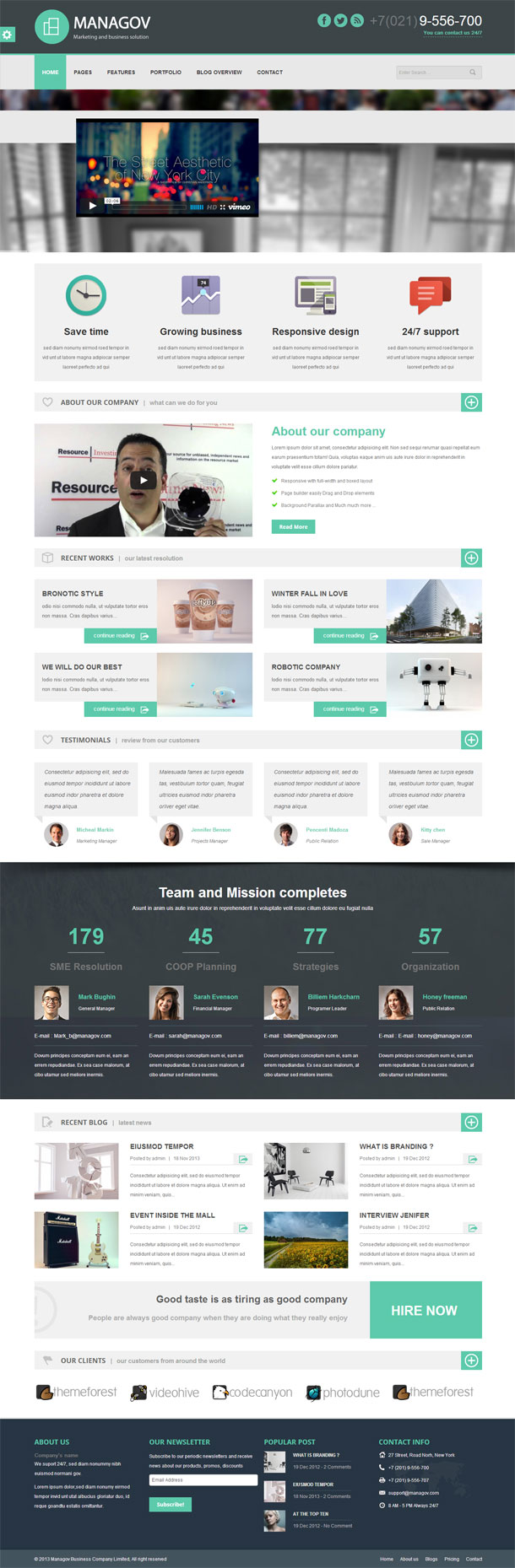 Managov Business Theme Image