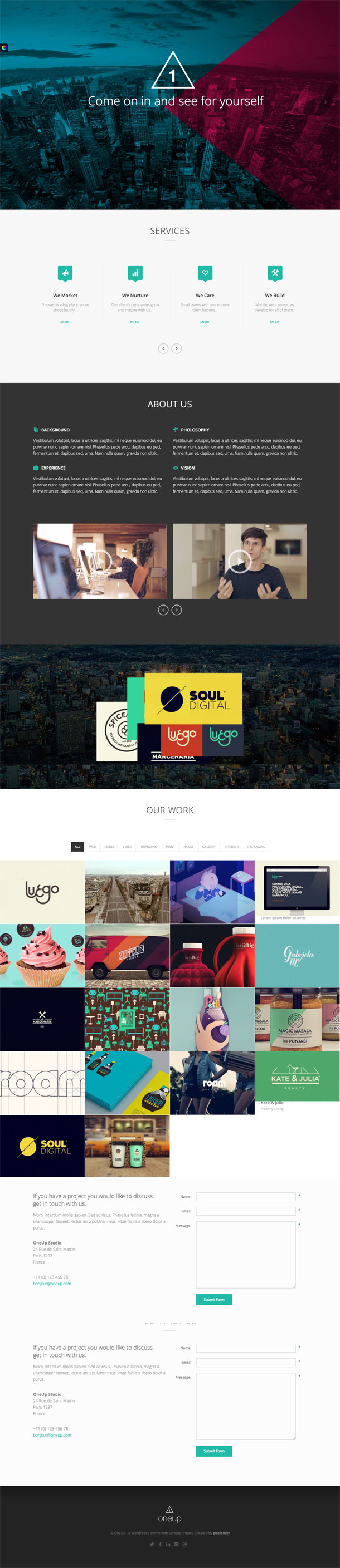 OneUp Grid Theme Image