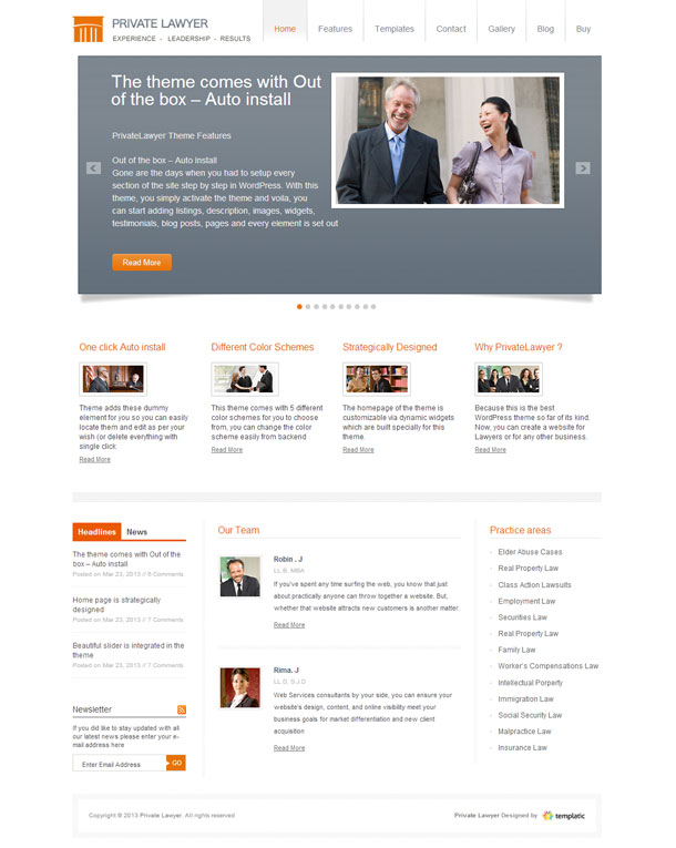 Private Lawyer & Law Firms Theme Image