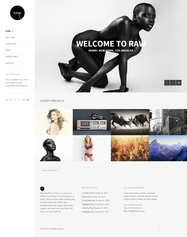 Raw Great WordPress Theme for 2014 image