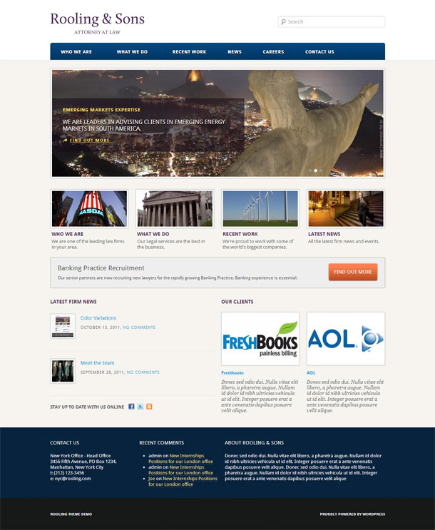 Rooling Lawyers & Law Firms Theme Image
