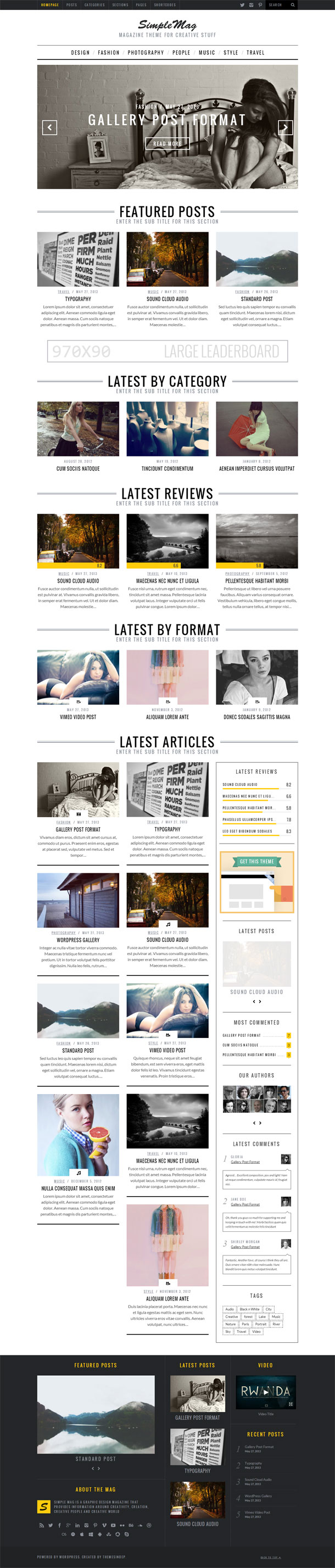SimpleMag Great WordPress Theme for 2014 image