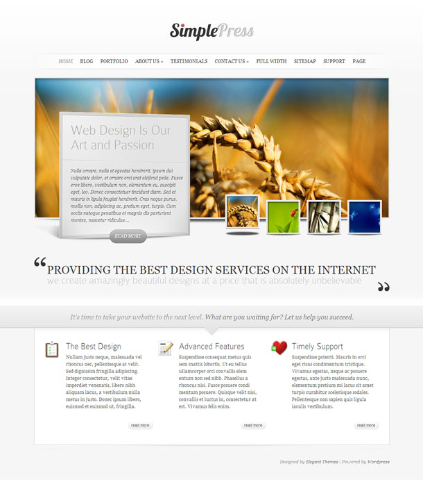 SimplePress Business Theme Image