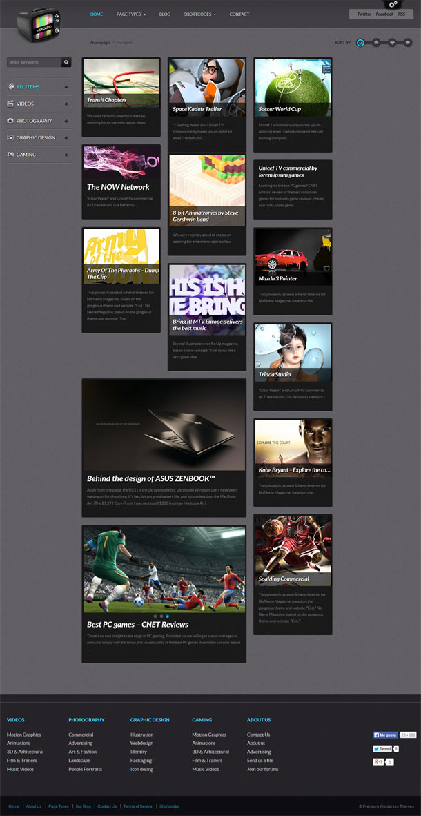 VideoGrid Great WordPress Theme for 2014 image