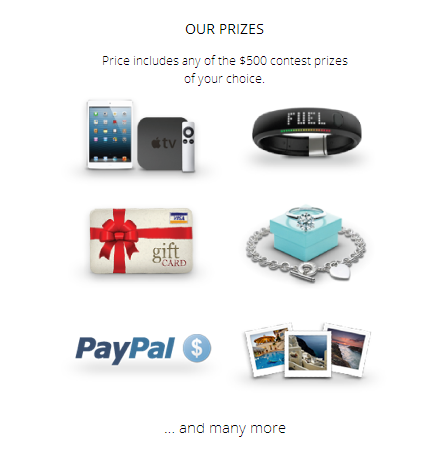 Contests Incentivibe Prizes