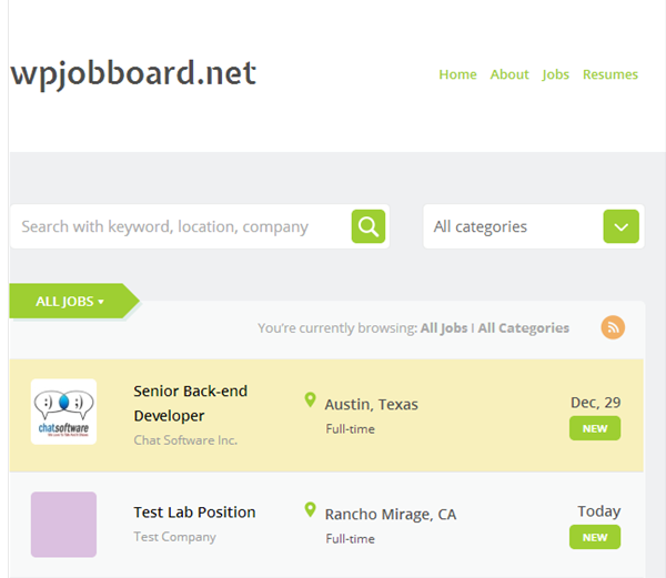 Job Boards WPJB 01