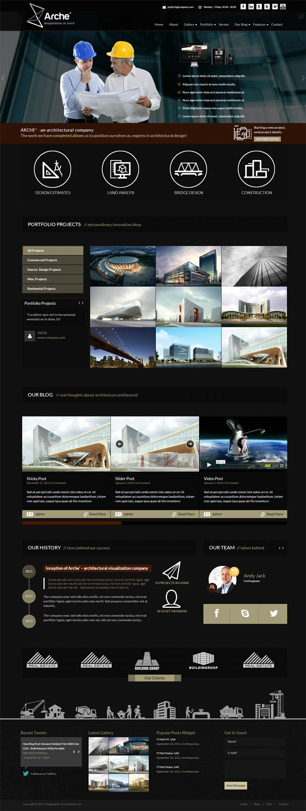 Arche Best WP Construction Company Theme Image