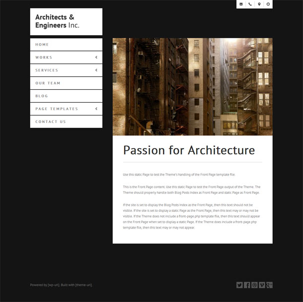 Architects & Engineers Best WP Construction Company Theme Image