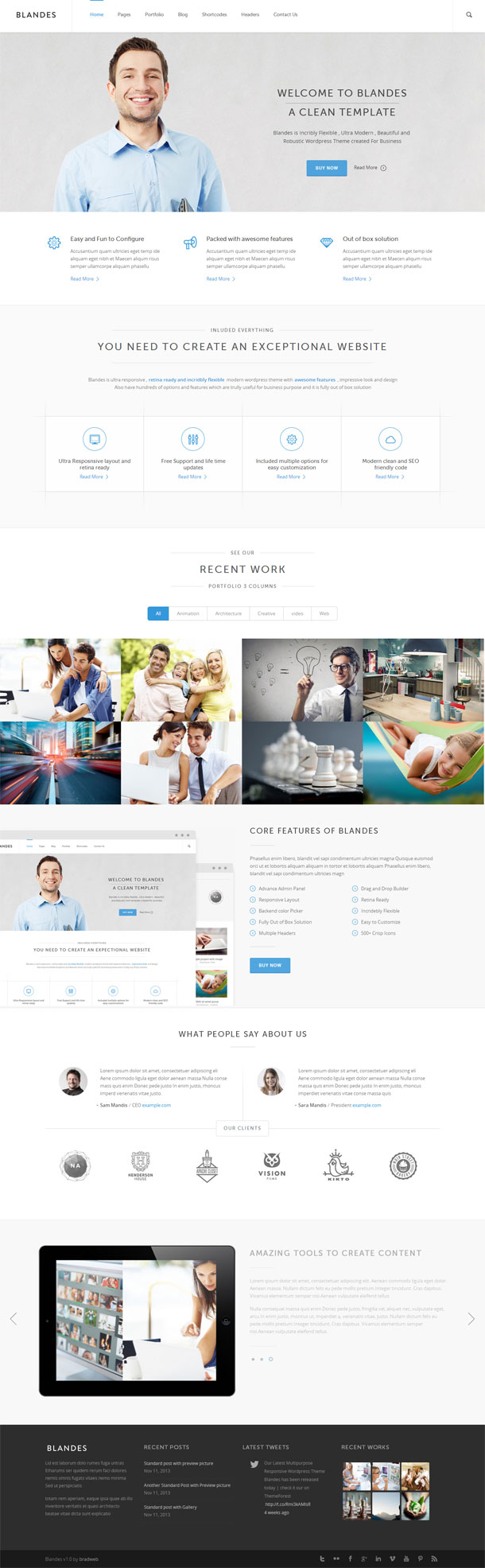 Blandes Best WP Construction Company Theme Image