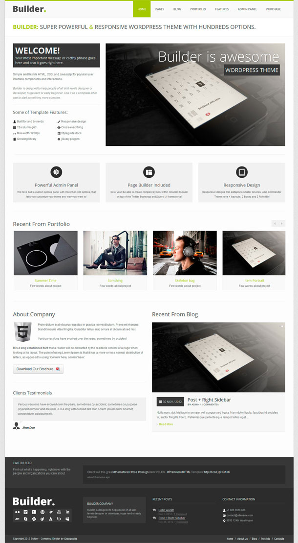 BUILDER Best WP Construction Company Theme Image