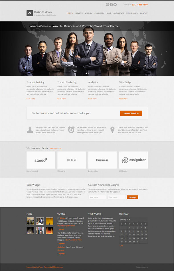 BusinessTwo Best WP Construction Company Theme Image