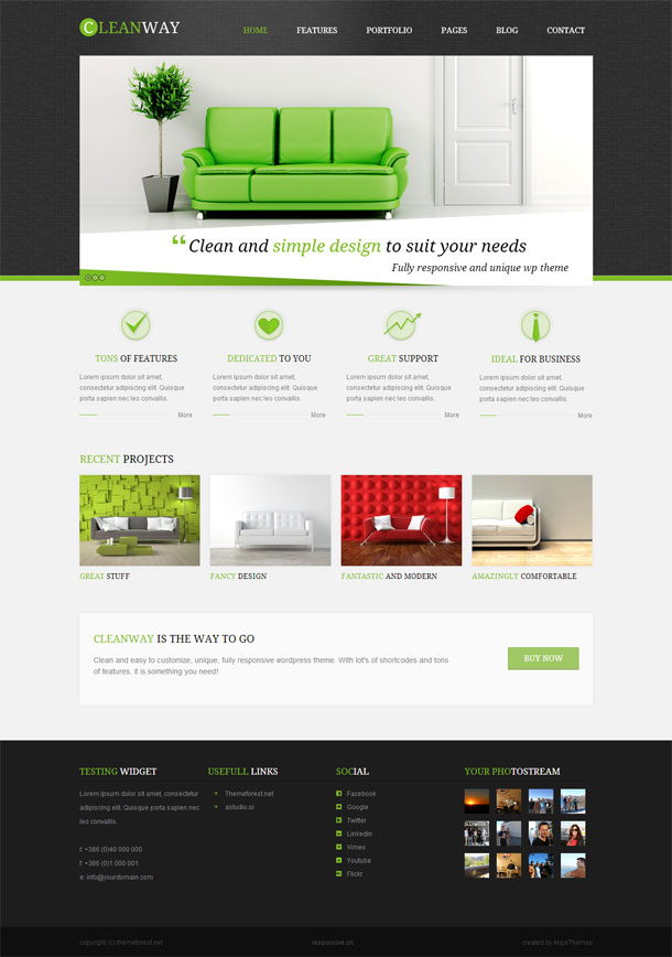 Cleanway Green Theme Image