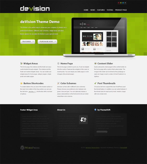 deVision Green Theme Image