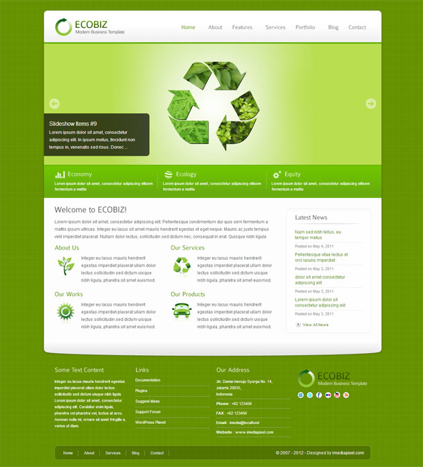Ecobiz Green Theme Image