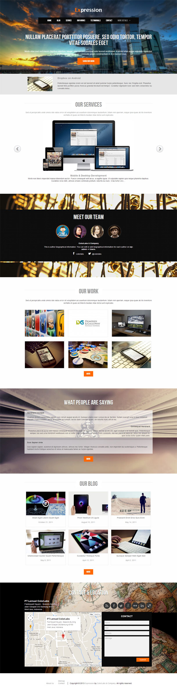 Expression Best WP Construction Company Theme Image