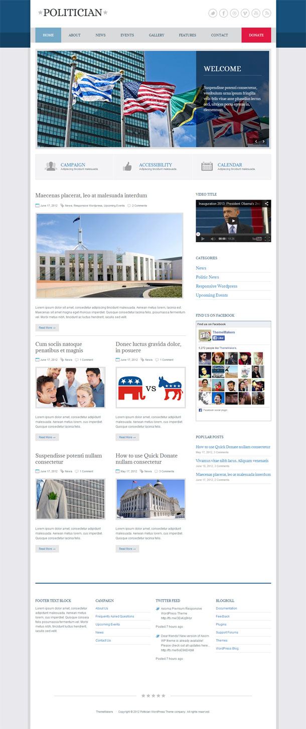 Politician Political Theme Image
