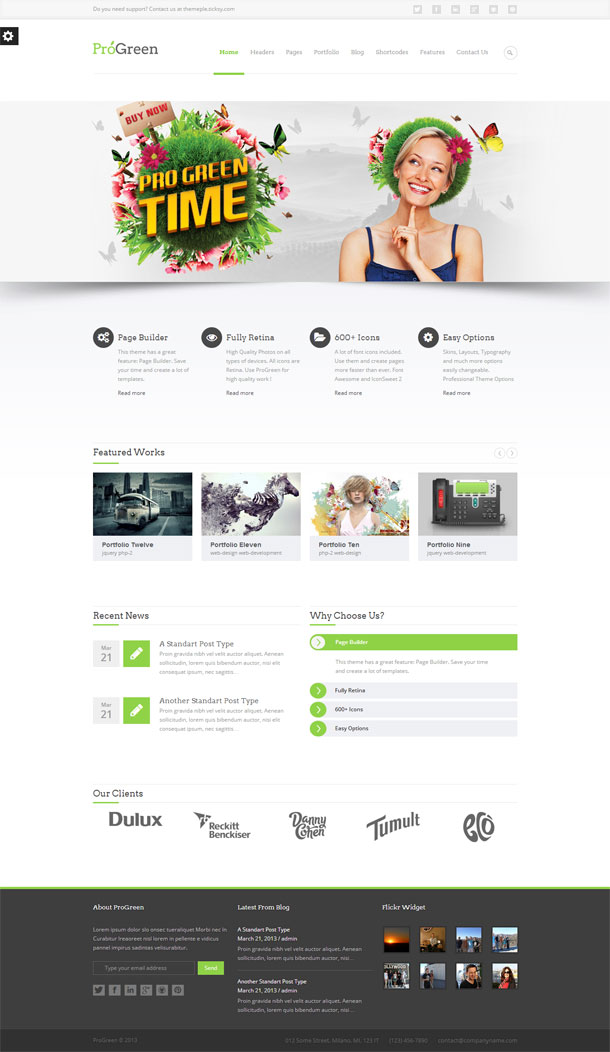 ProGreen Green Theme Image