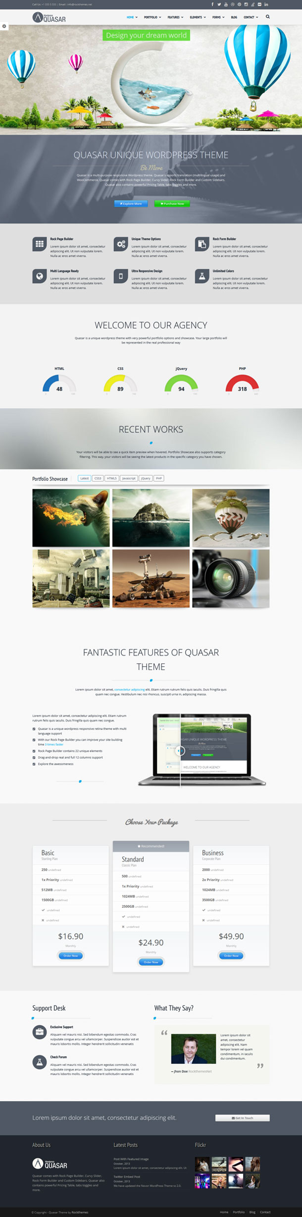 Quasar Best WP Construction Company Theme Image