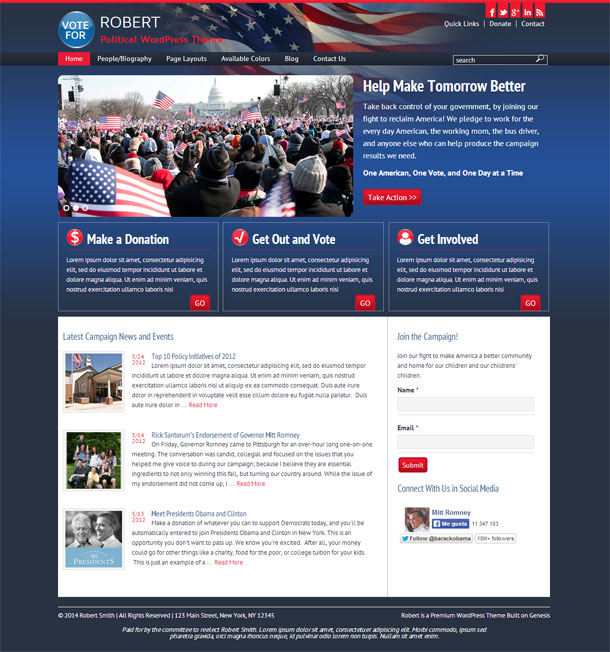 Robert Political Theme Image