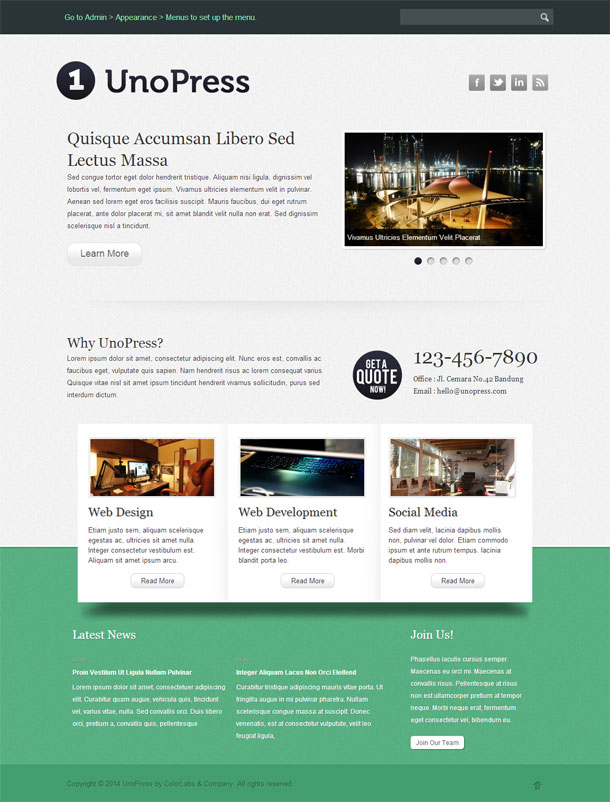 UnoPress Best WP Construction Company Theme Image