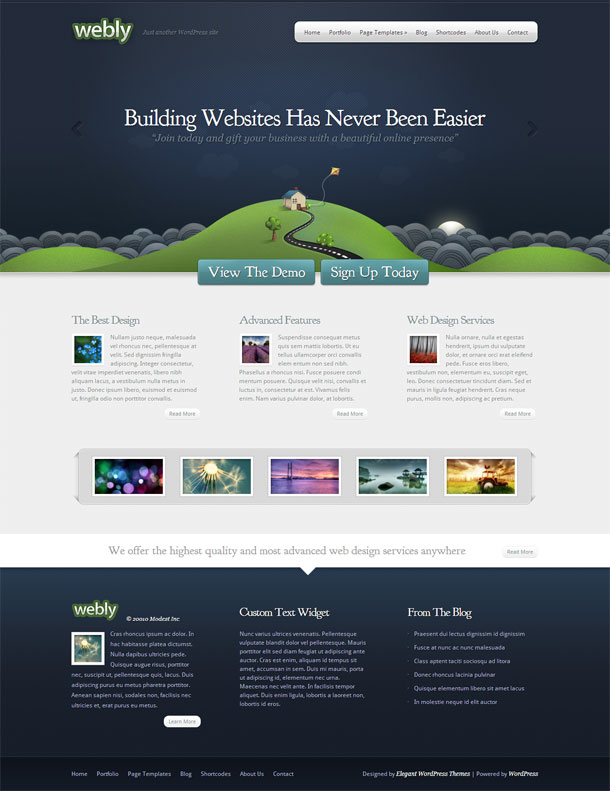 Webly Green Theme Image