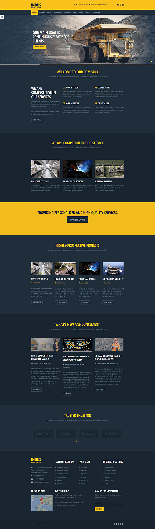 Indus Construction Company Template
