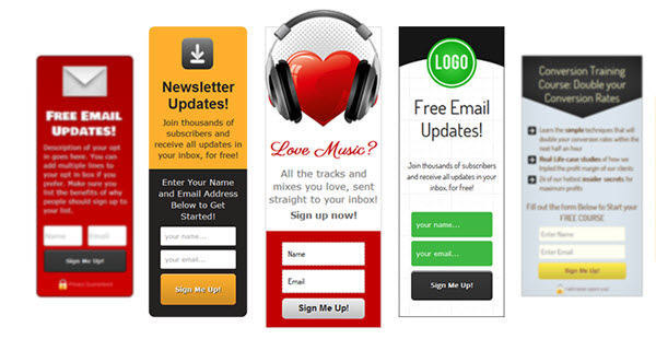 5 of the Best In-Content Optin Sign up Forms