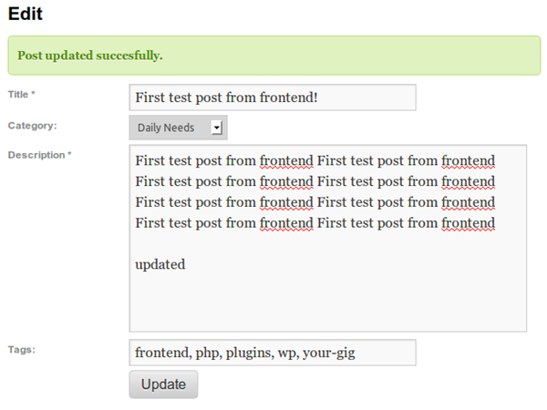Post Editor Plugins WP User Front End Post