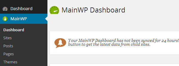 MainWP Menu Icon