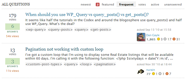 WordPress Answers Stack Exchange