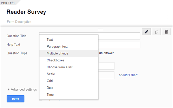 Google Survey Create Form 02