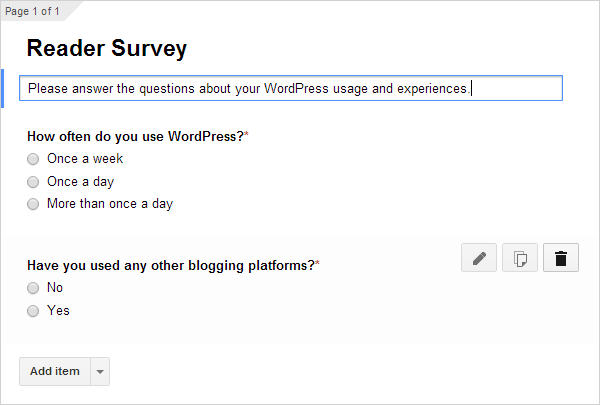 Google Survey Create Form 03