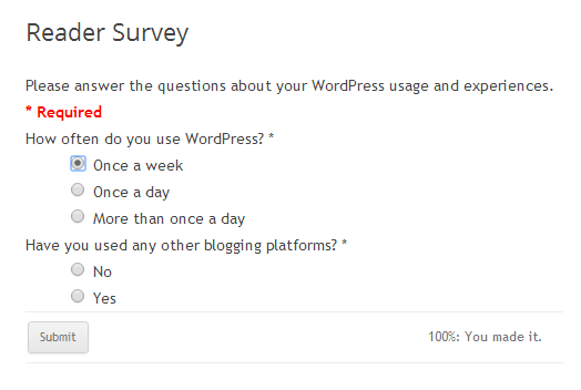 Google Surveys Plugin The Form