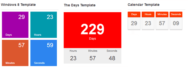 The Countdown Pro Templates
