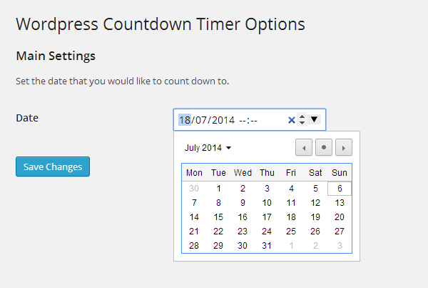 Countdown Timers WP Countdown Timer Settings