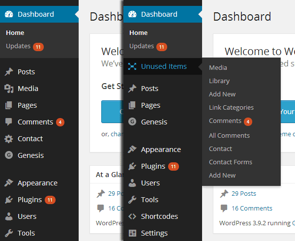 Menu Editor Before and After