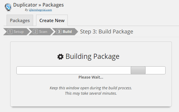 Duplicator Building Package