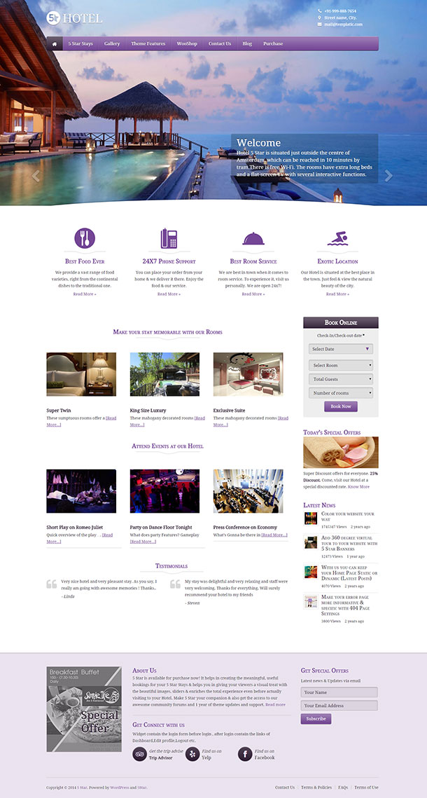 5 Star WordPress Theme Image