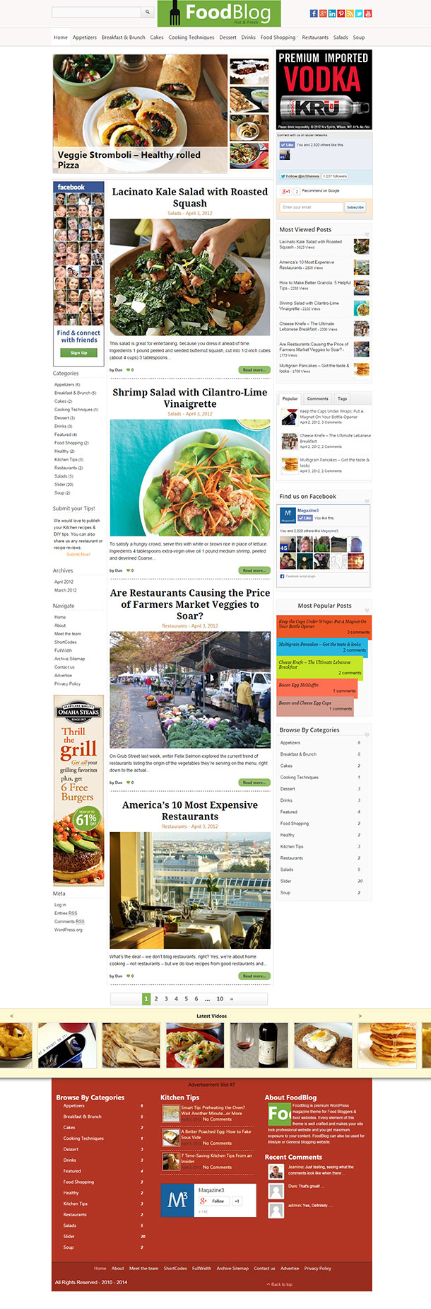 Food Blog Theme Image
