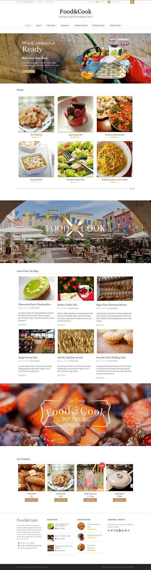 Food & Cook WordPress Theme