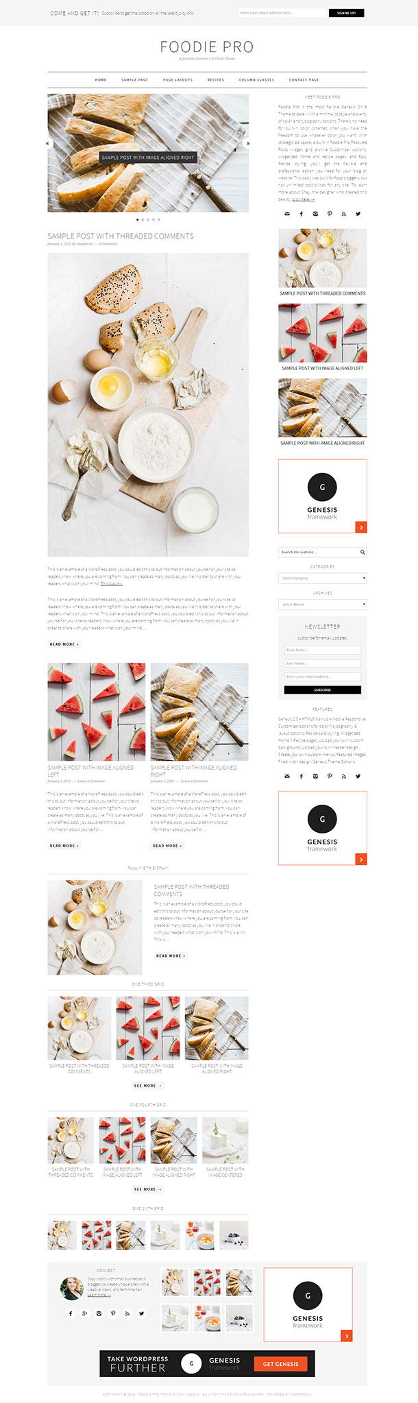 Foodie Pro WordPress Theme Image