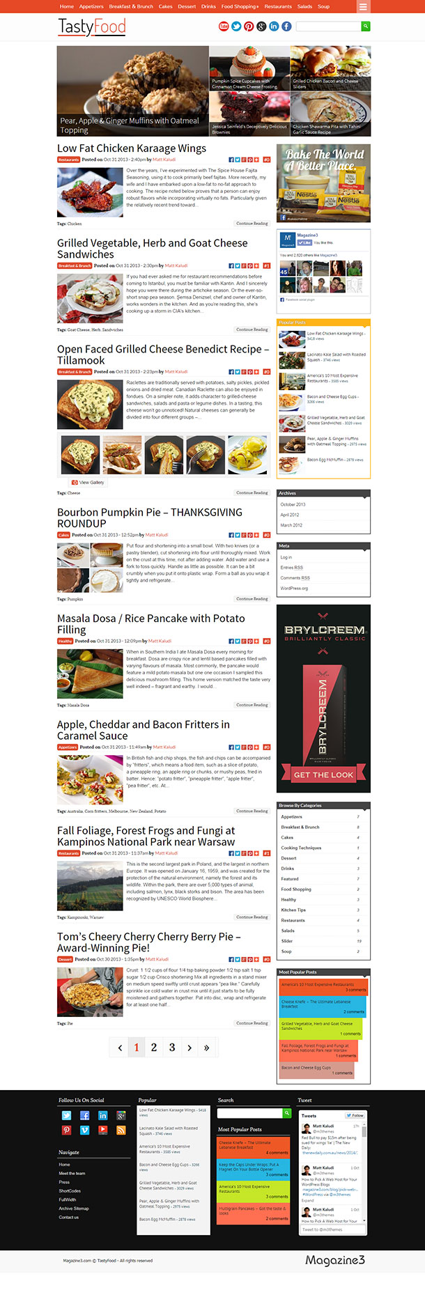 Tasty Food Recipe Theme
