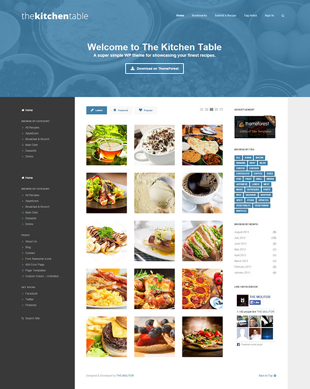 The Kitchen Table WP Theme Image