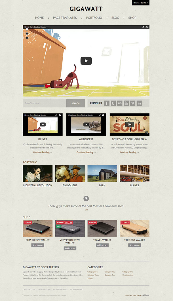 Gigawatt WordPress Theme Image