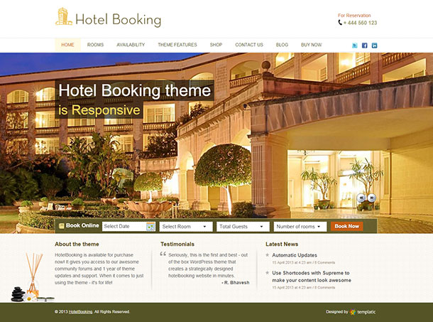 Hotel Booking Theme Image