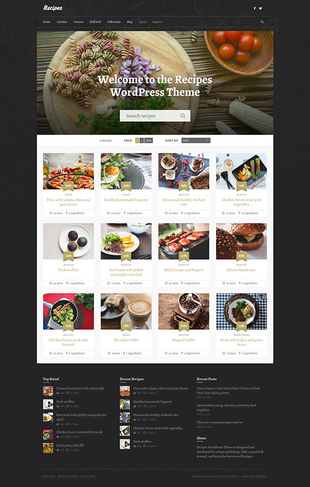 Recipes Theme Image