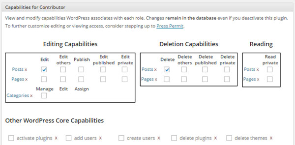 Capability Manager Enhanced Settings
