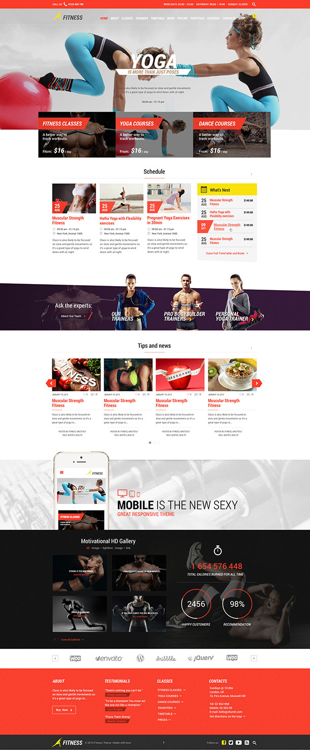 Fitness Template Image
