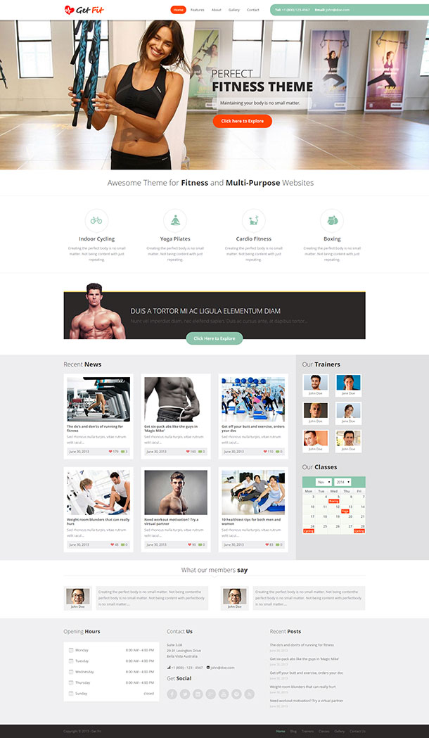 Get Fit WP Template Image