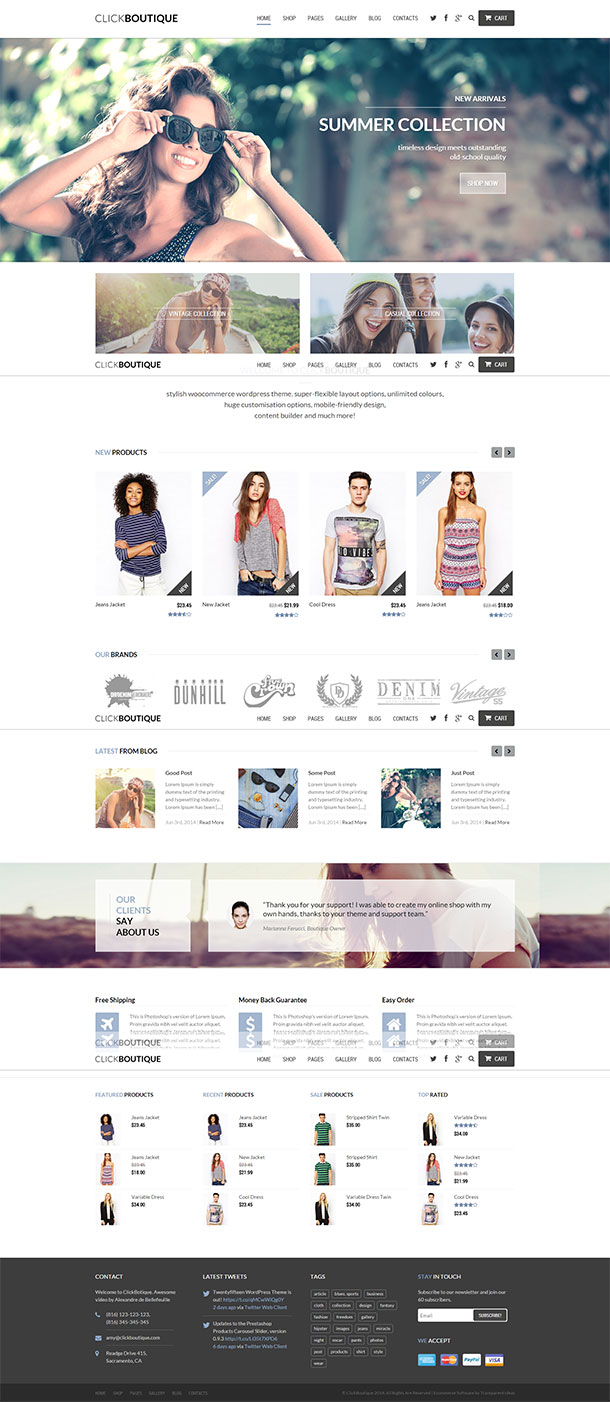 ClickBoutique WordPress Theme